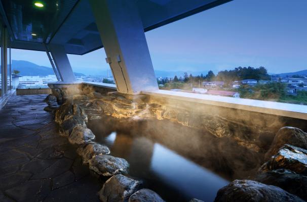 眺望の湯露天風呂「そよ風」